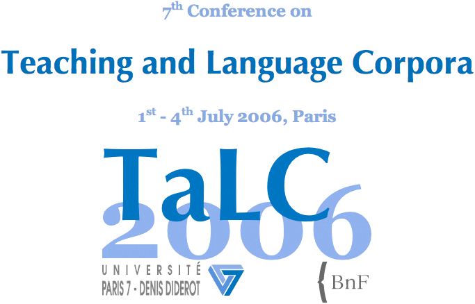 7th Conference on Teaching and Language Corpora